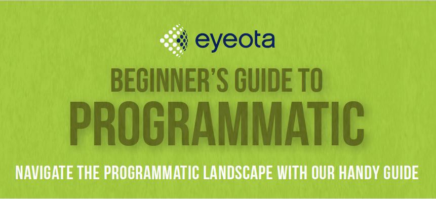 Eyeota's beginners guide to programmatic