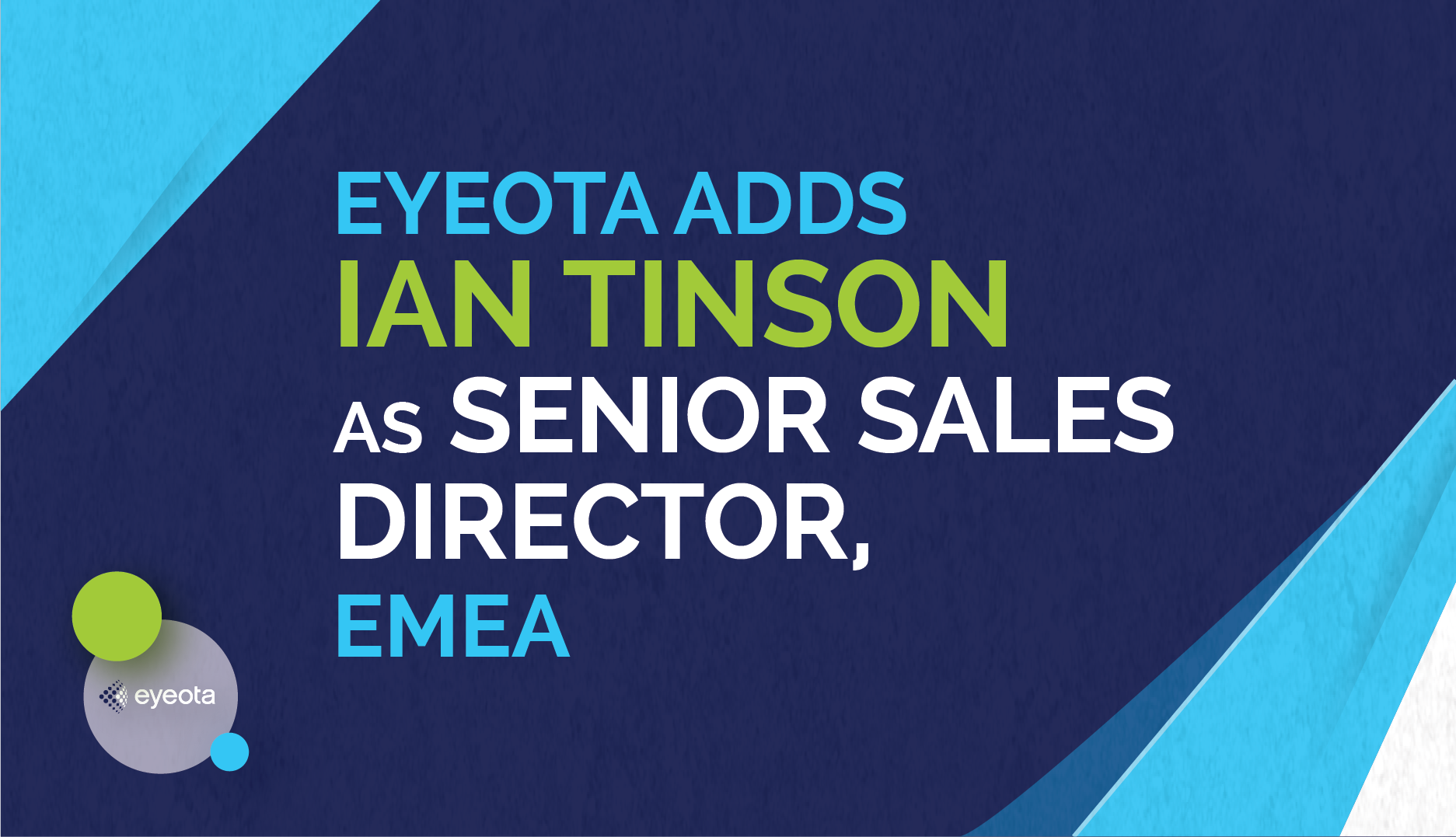 Ian Tinson Joins Eyeota as Senior Sales Director, EMEA