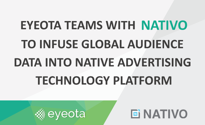 Eyeota Teams with Nativo to Infuse Global Audience Data into Native Advertising Technology Platform